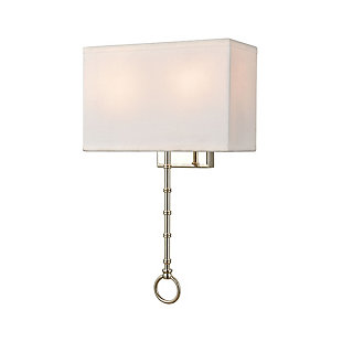 Two-Light Shannon Sconce, Chrome Finish/White, large