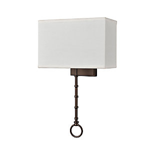 Two-Light Shannon Sconce, Bronze Finish/White, rollover