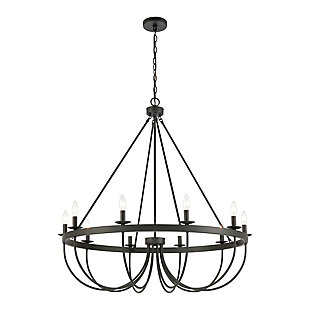 Steel Williamson 10-Light Chandelier, , large