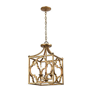 Steel Wembley 3-Light Chandelier, , large