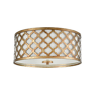 Drum Design Arabesque Flush Mount Pendant Light, , rollover