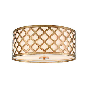 Drum Design Arabesque Flush Mount Pendant Light, , large