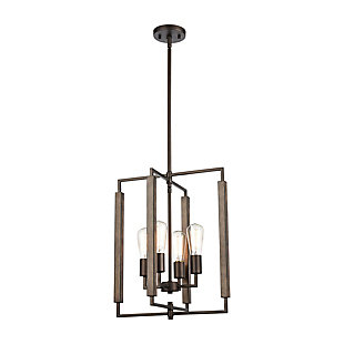Steel Zinger 4-Light Pendant, , large