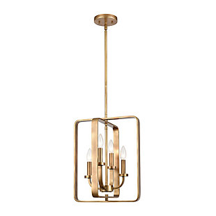 Steel Erindale 4-Light Pendant, , rollover
