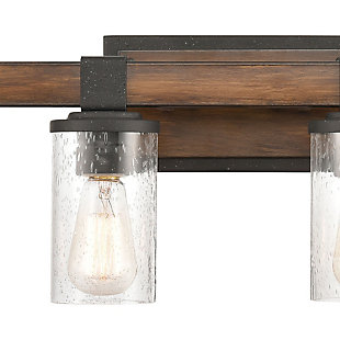 Steel Crenshaw 4-Light Vanity Light, Natural/Black Finish, rollover