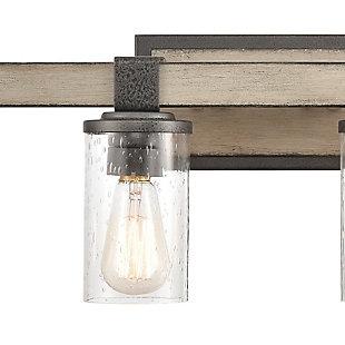 Steel Crenshaw 2-Light Vanity Light, Graywood Finish, large