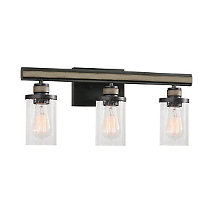 Steel Beaufort 3-Light Vanity Light, , large