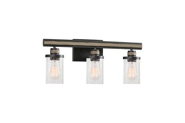 Steel Beaufort 3-Light Vanity Light, , large