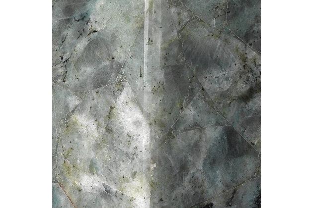 Laboradorite Borealis Tall Hexagon Wall Sconce, Gray, large