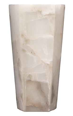 Alabaster Borealis Tall Hexagon Wall Sconce, White, large