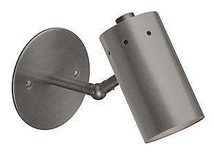 Steel Milano Wall Sconce, Gunmetal Finish, rollover