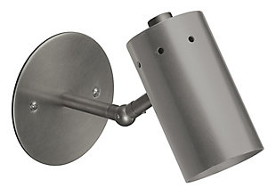 Steel Milano Wall Sconce, Gunmetal Finish, large