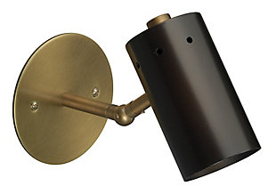 Steel Milano Wall Sconce, Oil Rubbed Bronze Finish, large