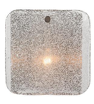 Iron Pérignon Square Wall Sconce, Antique Silver Finish, rollover