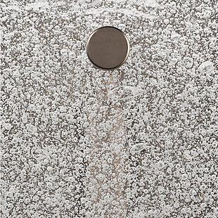 Iron Pérignon Square Wall Sconce, Antique Silver Finish, large