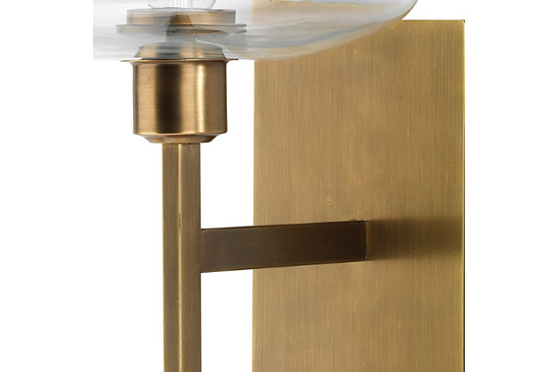 Steel Scando Mod Wall Sconce, Antique Brass Finish, large