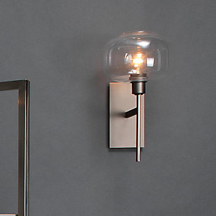 Steel Scando Mod Wall Sconce, Gunmetal Finish, rollover