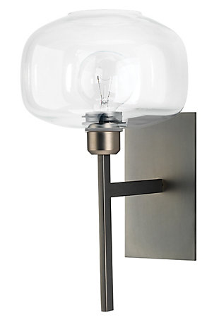 Steel Scando Mod Wall Sconce, Gunmetal Finish, large