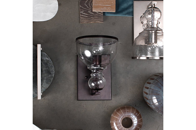 Iron Small St. Charles Wall Sconce, Oil Rubbed Bronze Finish, large