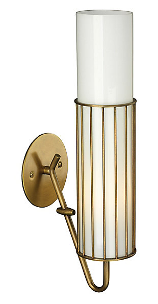 Steel Torino Wall Sconce, Antique Brass Finish, rollover