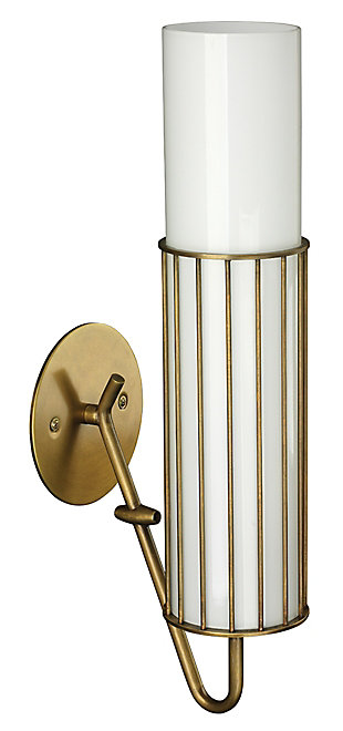Steel Torino Wall Sconce, Antique Brass Finish, large