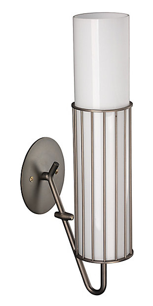 Steel Torino Wall Sconce, Gunmetal Finish, large