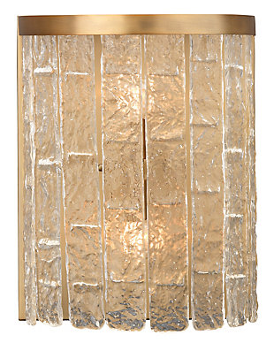 Iron Large Waterfall Demi-Lune Wall Sconce, , rollover