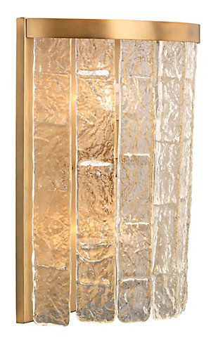 Iron Large Waterfall Demi-Lune Wall Sconce, , large
