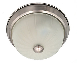 A Touch of Design Melrose 1-Light Flush Mount, Satin Nickel, , rollover
