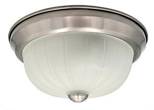 A Touch of Design Melrose 1-Light Flush Mount, Satin Nickel, , large