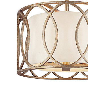 A Touch of Design Lauryn 3-Light Semi Flush Mount, Gold, , rollover