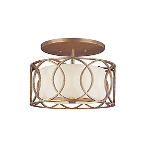 A Touch of Design Lauryn 3-Light Semi Flush Mount, Gold, , large