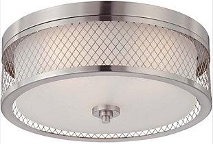 A Touch of Design Ryan 3-Light Flush Mount, Satin Nickel, , rollover