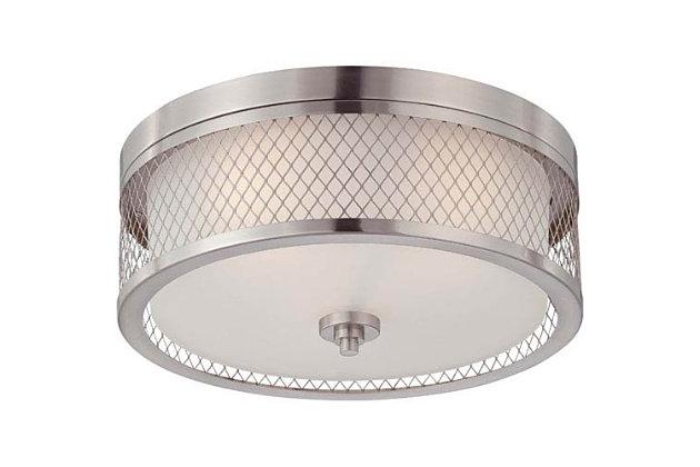 A Touch of Design Ryan 3-Light Flush Mount, Satin Nickel, , large