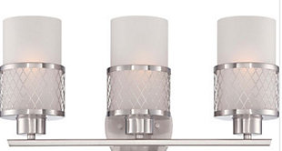 A Touch of Design Ryan 3-Light Dimmable Vanity Light, Satin Nickel, , large