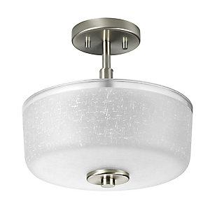 A Touch of Design Dora 2-Light Semi Flush Mount, Satin Nickel, , rollover