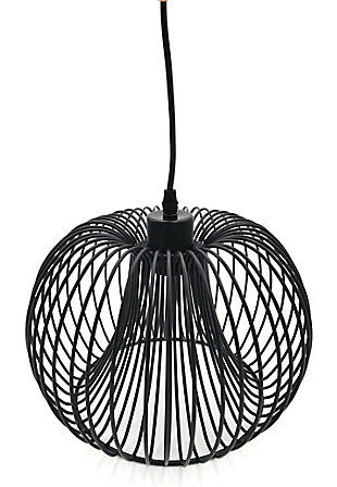 A Touch of Design Brooklyn 1-Light Wire Pendant Light, Black, , large