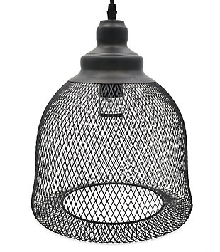 A Touch of Design Summit Mesh 1-Light Pendant Light, Black, , rollover