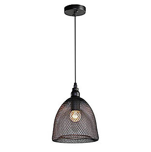 A Touch of Design Summit Mesh 1-Light Pendant Light, Black, , large