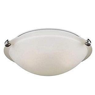 A Touch of Design Royalton 2-Light Glass Flush Mount, Satin Nickel, , large