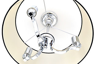 A Touch of Design Taryn 3-Light Semi Flush Mount, Chrome, , rollover