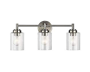 A Touch of Design Lina 3-Light Dimmable Vanity Light, Satin Nickel, , large