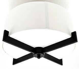 A Touch of Design Leo 3-Light Semi Flush Mount, Black, , rollover