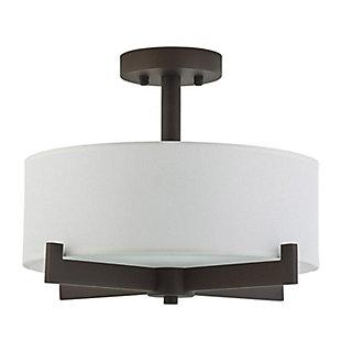 A Touch of Design Leo 3-Light Semi Flush Mount, Black, , large