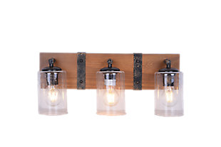 A Touch of Design Hudson 3-Light Dimmable Vanity Light, Black, , large
