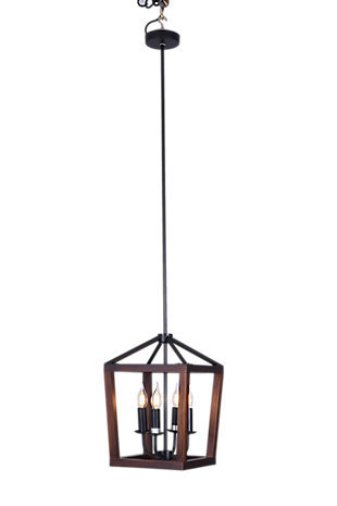 A Touch of Design Wellington 4-Light Lantern-Style Light Fixture, Black, , large
