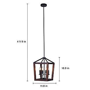 A Touch of Design Wellington 4-Light Lantern-Style Light Fixture, Black, , large