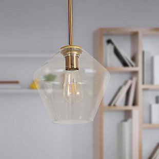 A Touch of Design A Touch of Design Remy 1-Light Bell Pendant, Brass, , rollover
