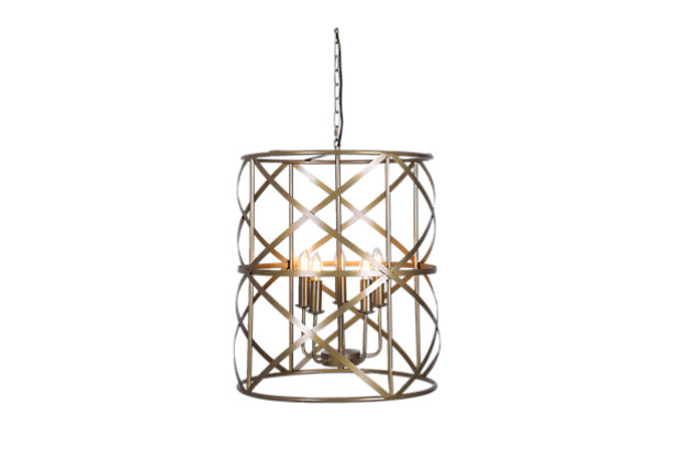 A Touch of Design Addie 5-Light Chandelier, Antique Copper, , large