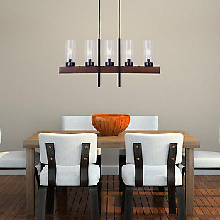 A Touch of Design Baxter 5-Light Chandelier, Black, , rollover